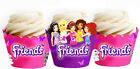 Lego Friends Birthday Party 15 Wraps Cupcake Cases Cake Wrappers Cup Cake