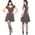Polka Dot Dollface Dress Dress Retro Pin Up Vintage Rockabilly Alternative Punk