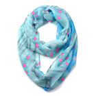 Women Long Soft Scarves Neck Shawl Wrap Star and Stripes Pattern Infinity Scarf