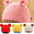 Baby Kids Girl Boy Cute Bear Style Toddler Crochet Beanie Hat Cap MZ2199