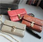 Women's Fashionable Genuine Leather Retro Styled Wallet Lady Long Purse