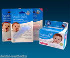 Baby Teether Set - Brush Baby Chewable Toothbrush & Box of 28 Dental Wipes