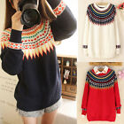 CHEAP Xmas Women New Chinoiserie Oversize Sweater Pullover Knitting Tops Blouse