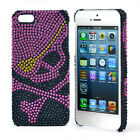 Dasein Skull Rhinestone Embellished Cell Phone Case for iPhone 5