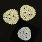 4 Pcs Lot Cute Glass Rhinestone Crystal Shank Buttons Sew&DIY Decor Gold/ Silver