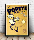 Popeye 1933-38 : Old  cartoon character poster reproduction.