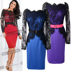 Red/Blue/Purple CHEAP Vintage Lady SEXY Lace Pencil Evening Prom Formal Dress SR