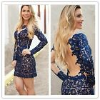 New Arrival Sexy Lady Backless Evening Party Short Mini Dress Prom Ball Party-LJ