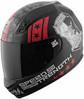 Speed and Strength SS700 Dogs of War Full Face Motorcycle Helmet Matte Black Red