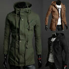 THICKEN Trench Coat Long Parka Men Slim Jacket Winter Locomotive Outer SIZE ~2XL