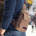 NEW Men's Small Canvas Shoulder Travel Hiking Crossbody Bicycle Casual Fanny Bag