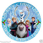 "Disney FROZEN MERRY CHRISTMAS 24 x2"" or Large 7.5 Edible Cake Topper Rice Paper"