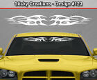 Design #123 Tribal Flame Windshield Decal Back Window Sticker Vinyl Graphic Car