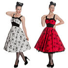 Ladies Hell Bunny Black Widow Dress 50s Rockabilly Halloween Pin Up Prom Dress