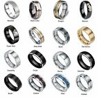 Black Silver Gold Tungsten Carbide Ring Wedding Band Comfort fit  Men's Jewelry
