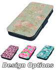 Floral Patterns Designs Cath Style Printed Faux Leather Flip Phone Cover Case