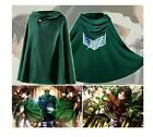 COSTUME COSPLAY MANTELLO MANTELLINA ATTACK ON TITAN ATTACCO DEI GIGANTI MANTEAU
