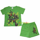 TMNT Teenage Mutant Ninja Turtles Summer Pyjamas Pajamas PJS Top Short Size 2-8