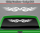 Design #141 Tribal Curls Windshield Decal Rear Window Sticker Vinyl Graphic Car