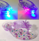 Okie Dokie Jacey Girls Clear Light Up Heel Toddler Sandals Flip Flop Shoes NEW