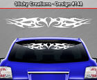 Design #148 Tribal Curls Swirl Windshield Decal Window Sticker Vinyl Graphic Car