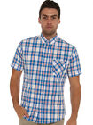 Ben Sherman Short Sleeve Check Shirt in Blue NEW