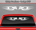 Design #157 Tribal Flame Windshield Decal Rear Window Sticker Vinyl Graphic Car