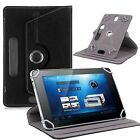 """Leather Portfolio Case Cover Skin for iRULU 10.1"""" Tablet PC Android 5.1 Lollipop"""