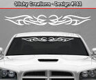 Design #165 Tribal Curl Windshield Decal Window Sticker Vinyl Graphic Banner Car