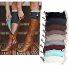 Hot Women's Crochet Knitted Boot Cuffs Toppers Leg Warmers Lace Trim Socks