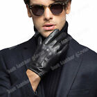 Men's Winter Warm Goatskin Genuine Leather Gloves For Men Driving Fashion New