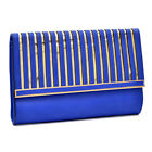 Women Evening Bag Fold Over Wedding Bag Matte Clutch with Gold Tone Chain Strap