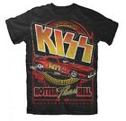 KISS HOTTER THAN HELL CAR HARD ROCK BAND NEW MEN T-SHIRT BLACK S M L XL FREESHIP