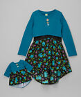 """Dollie and me Sz 7  and 18"""" doll matching  outfit  fit  american girl doll"""