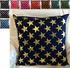 Star Cushion covers gold and silver in multicolour