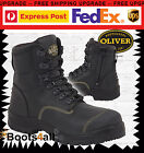 New Oliver ATs Work Boots Zip Up Safety/Steel Toe Cap Tradies/Mining 55245Z