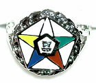 Ladies Order of the Eastern Star Platinum Overlay Ring  Show *Your Lodge Pride *