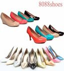 Women's Fashion Cute Patent  Close Toe Pumps  Heels Wedge Shoes Size 5 - 10 NEW