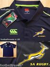S M XXL 3XL SOUTH AFRICA SPRINGBOKS PLAYERS CANTERBURY RUGBY POLO SHIRT