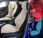 Fiat 500 (2007-.....)  MIX VELOUR and SYNTHETIC TWO FRONT CUSTOM CAR SEAT COVERS