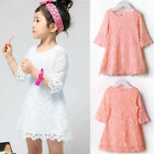 Hot Fashion Kids Girls Toddler Baby Lace Princess Party Dresses Skirt Clothes