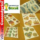 BRAZIL FIFA WORLD CUP 2014 Pack Fancy Tattoo Argentina Brazil German Italy Spain