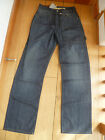 FAT FACE WASHED RAW INDIGO BLUE LOOSE CINCH BACK JEANS 30 WAIST LONG BNWT