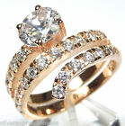 14kt Rose Gold Plated 925 Sterling Silver Cubic Zirconia Ring size 6, 7, 8, 9