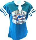 Miami Dolphins Football Ladies Go For Two II T-Shirt Junior Fit $9.99 USD on eBay