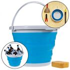 Silicone Folding Bucket Foldable Silicone Collapsible Bucket 5L Camping Sport LJ