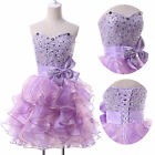 2015 Ruffles Cocktail Dress Homecoming Short Prom Party Dresses Stock Size2---16