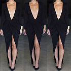 2015 SEXY Lady Women Long Sleeve Pageant Party Cocktail Maxi Long Evening Dress