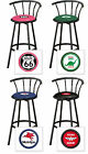 """FC580 24"""" OR 29"""" TALL VINTAGE GAS GARAGE AUTO SHOP THEMED SEAT BLACK BAR STOOLS"""