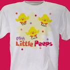 Personalized T-Shirt For Mom or Grandma My Little Peeps Custom Easter Shirt